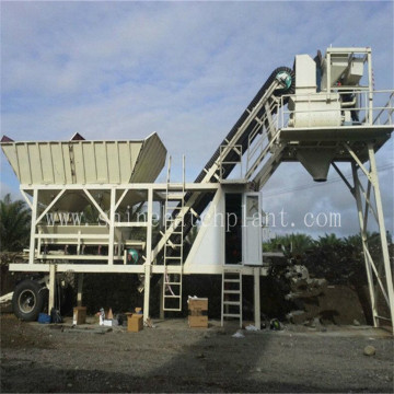 25 Mobile Wet Ready Construction Concrete Plant