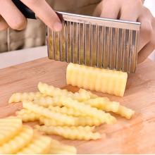 Vegetable Cutter Stainless Steel Potato Wavy Edged Cutter Knife Gadget Vegetable Fruit Potato Cutter Peeler Cooking Tools 2018
