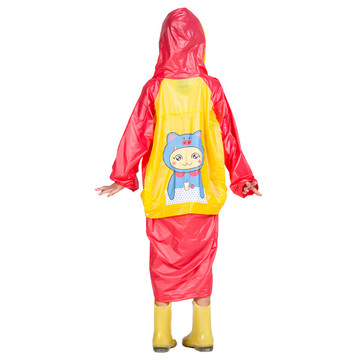 Fashion rain coat poncho children PVC rainwear