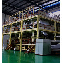 Double beam spundbond non-woven machine