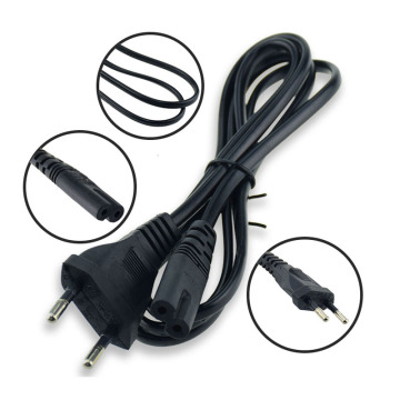 EU Plug 2 prong AC Power Cord