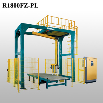 Rotary arm stretch film wrapping machine