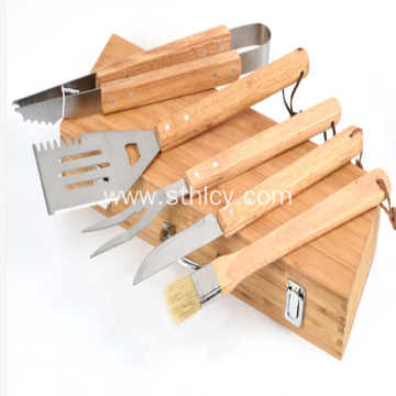 Beautiful Stainless Steel Grill Tool Set