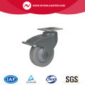 Chrome 4 90Kg Plate Brake PU Caster