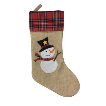 Traditional Christmas Decoration Snowman Stocking
