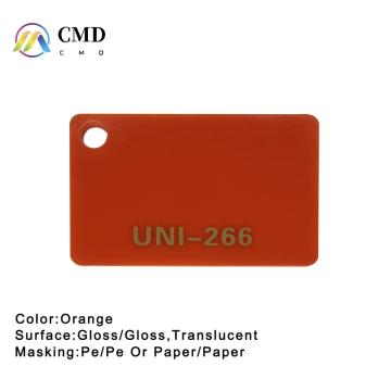 Cast Acrylic Sheet Orange