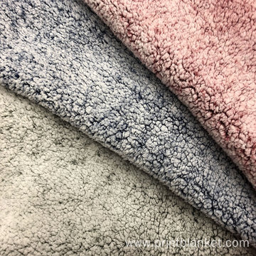 100% polyester printed faux fur sherpa pile fabric