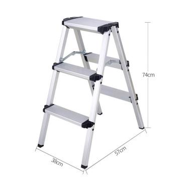 Foldable Aluminum Ladder A-type Multi-functional Folding Step Platform 3 Steps