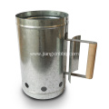Stainless Steel Chimney Charcoal Starter With Wood Handle