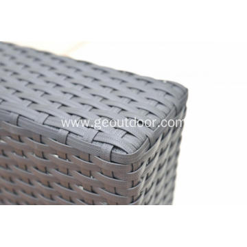 5pcs rattan and aluminum black sofa