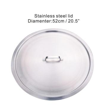 28QT Stainless Steel Cooking Cazo Comal With Lid