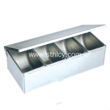 Stainless Steel Kitchen Multi Functional Seasoning Box