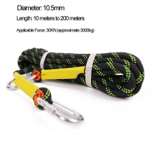 Polyester double braided rope climbing rope rock rope
