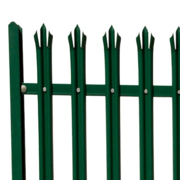 Decorative Steel PVC Coated D Section Palisade Fence
