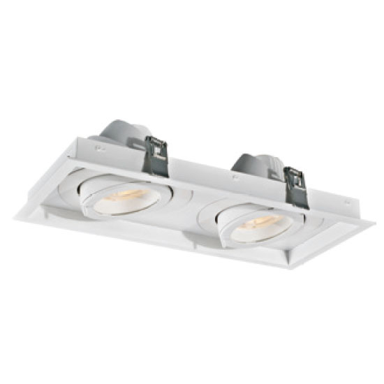 White Rectangular 30W2 LED Downlight