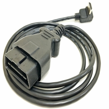 Molded J1962 Type OBD2 Truck Diagnostic System Cable