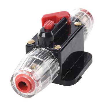 30A Car o Inline Circuit Breaker Fuse Holder 12v-24v System Protection Black