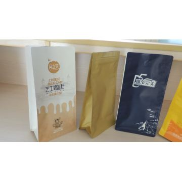 Seal aluminum foil for coffee packaging flat bottom-bag