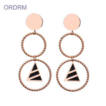 Fashion Double Drop Hoop Earrings For Women
