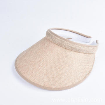 Paper straw visor hat summer sun protection cap