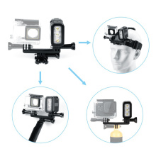 Waterproof Video Light underwater Dimmable LED Light on Camera for Action camera Gopro Hero 7 8 accessories Lighting