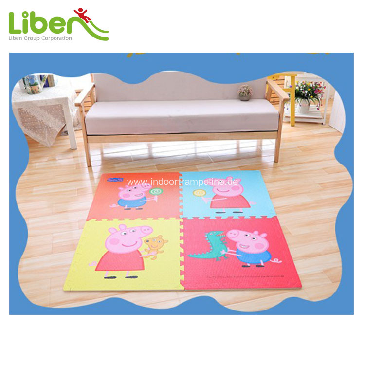 indoor kids wood grain style soft eva mat