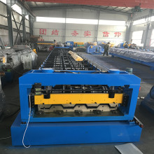 Floor deck metal roller machine
