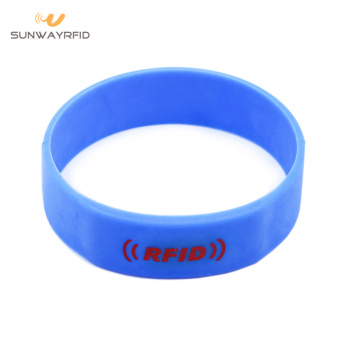Round 13.56MHZ Silicone RFID Wristbands