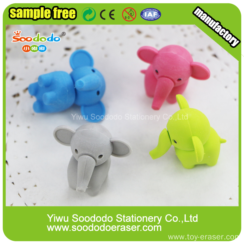 cute elephant animal erasers puzzle eraser rubber