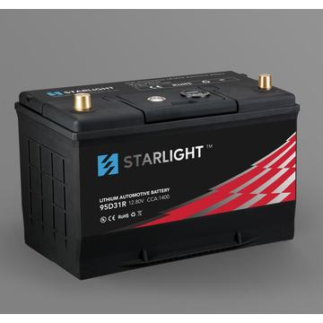 12.8V 95D31L LiFePO4 Automobile Lithium Battery