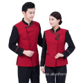 long sleeves modern restaurant & bar hotel reception waiter uniform