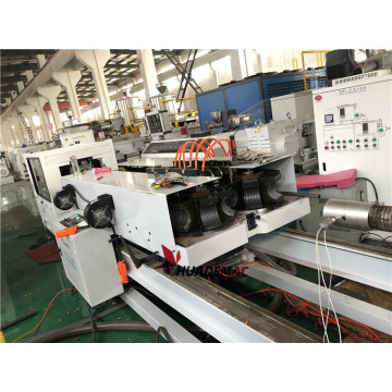 Double wall corrugated pipe production line