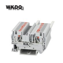 10pcs PT 4 Feed-through Universal Push In Connection Din Rail Terminal Block Connector Spring Terminal block strips