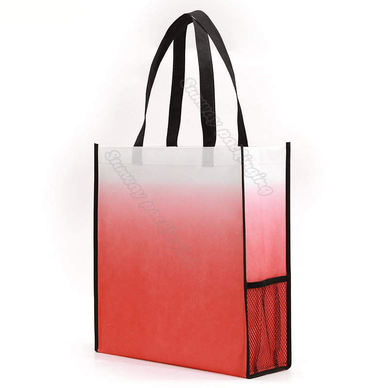 Red Gradient Non Woven Carry Bags