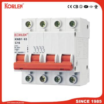 6ka Mini Circuit Breaker with CB KNB1-63 2P