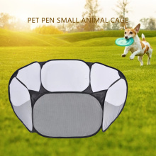 Pet Fence Indoor Outdoor Game Safe Guard Playpen Portable Foldable Small Medium Animal Cage for Cat Hamster Decoration