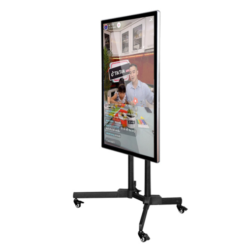 "75"" LCD screen Tiktok live streaming touch display"