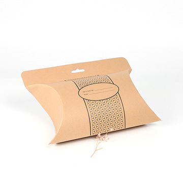 Good price kraft paper pillow box packaging