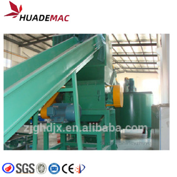 Hot washing PET flakes recycling line