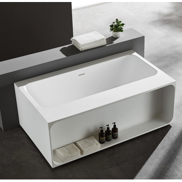 Acrylic Freestanding Indoor White Soaking Portable Bathtub