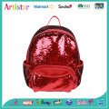 red color sequins backpack