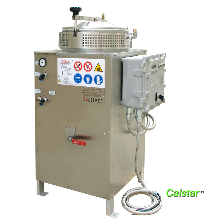 Water cooled solvent recovery machine