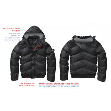 Fashion men's jackets in winter