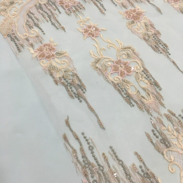 2019 Latest Garment Pearl Embroidery Fabric