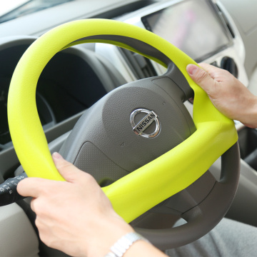 Top sale fashion heated silicone steering wheel cover