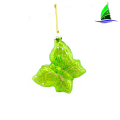 Hot sale hand blown glass butterfly Christmas ornaments