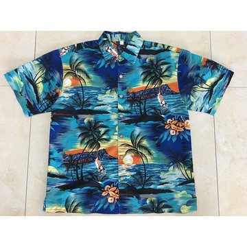 Polyester printing seaside hawaii shirt