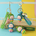pop cheap custom silicon keychain custom shaped
