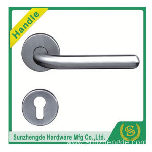 SZD STH-110 brushed 304 stainless steel hollow door handle with panel
