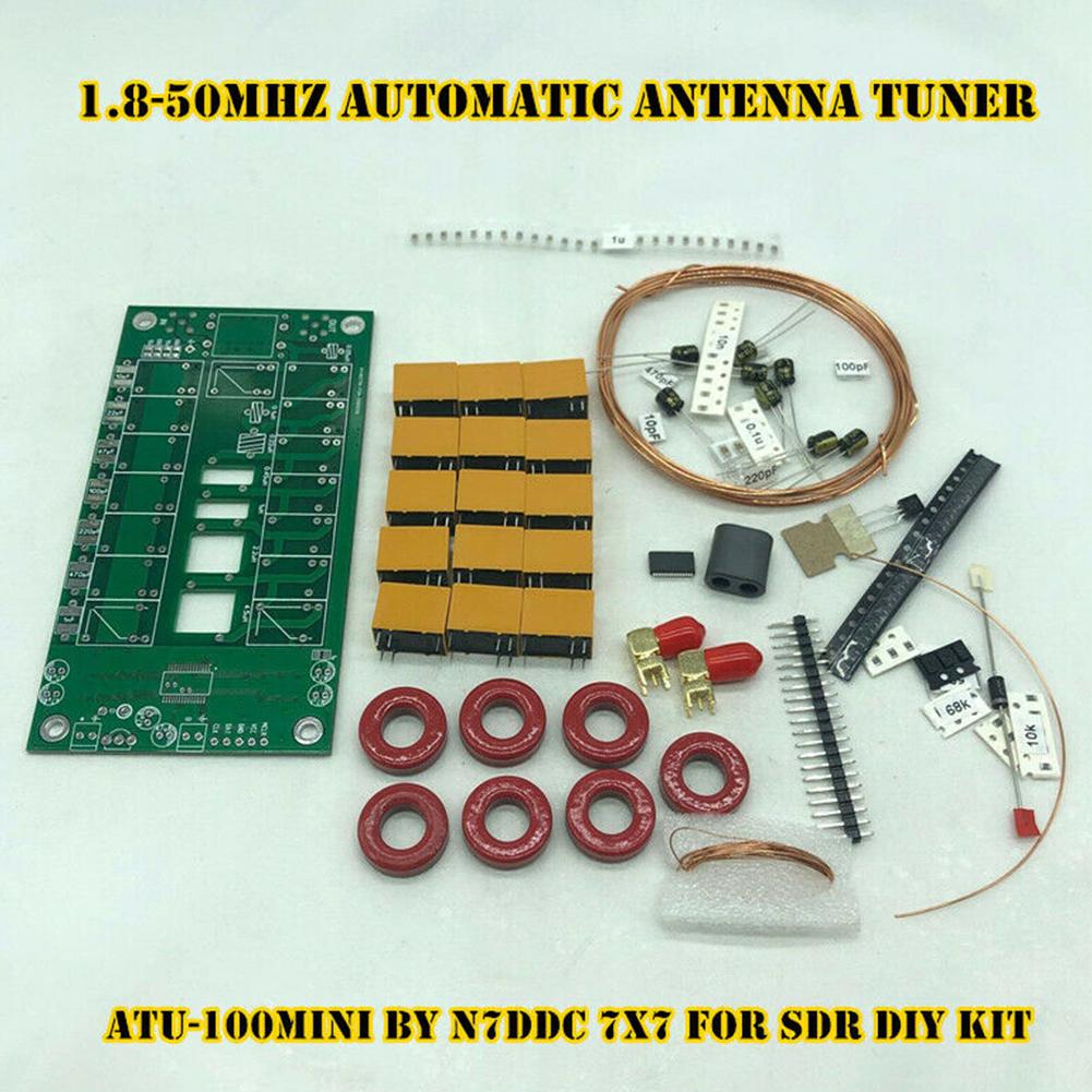ATU-100mini 1.8-50MHz Signal Control Professional Equipment Automatic Antenna Tuner DIY Kit By N7DDC OLED Communication Metal